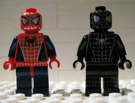 black lego spiderman