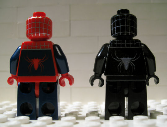 black lego spider-man